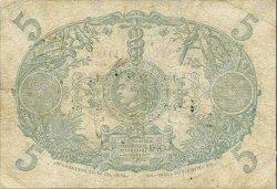 5 Francs Cabasson bleu 1901 MARTINIQUE  1935 P.06var TB