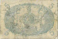 5 Francs Cabasson bleu 1901 MARTINIQUE  1945 P.06var B