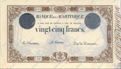 25 Francs modifié MARTINIQUE  1916 P.07b SUP+