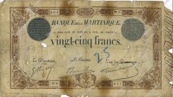 25 Francs modifié MARTINIQUE  1916 P.07b AB
