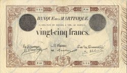 25 Francs MARTINIQUE  1922 P.07b TTB+