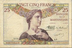 25 Francs type 1927 MARTINIQUE  1930 P.12 TB+