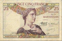 25 Francs type 1927 MARTINIQUE  1930 P.12 TB+