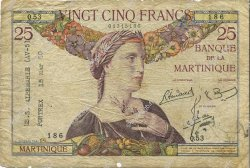 25 Francs MARTINIQUE  1945 P.12 pr.TB