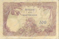 100 Francs type 1927 MARTINIQUE  1934 P.13 TB