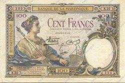 100 Francs type 1927 MARTINIQUE  1938 P.13 TTB