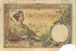 500 Francs type 1927 MARTINIQUE  1938 P.14