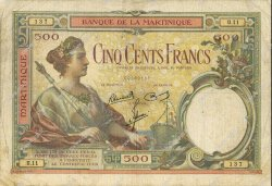 500 Francs MARTINIQUE  1945 P.14 TB+