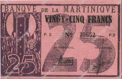 25 Francs MARTINIQUE  1941 P.18 TTB