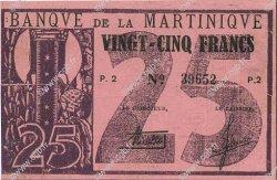 25 Francs type 1941 MARTINIQUE  1941 P.18 TTB