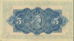 5 Francs MARTINIQUE  1942 P.16s SUP+
