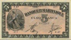 5 Francs MARTINIQUE  1944 P.16b pr.NEUF
