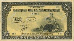 25 Francs type américain MARTINIQUE  1943 P.17 SUP