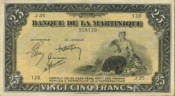 25 Francs type américain MARTINIQUE  1944 P.17 SUP+