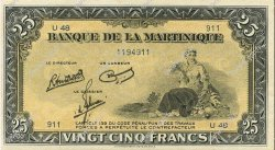25 Francs type américain MARTINIQUE  1945 P.17 pr.NEUF