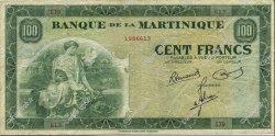 100 Francs type américain MARTINIQUE  1945 P.19a TTB