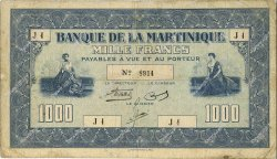 1000 Francs  MARTINIQUE  1942 P.20 TB