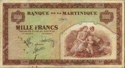 1000 Francs MARTINIQUE  1944 P.21a pr.TTB