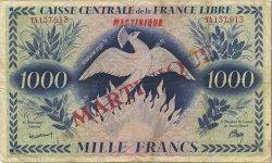 1000 Francs Phénix MARTINIQUE  1947 P.22c pr.TTB