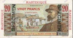 20 Francs MARTINIQUE  1946 P.29s pr.NEUF