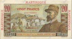 20 Francs MARTINIQUE  1946 P.29 SUP