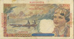 1000 Francs MARTINIQUE  1946 P.33 TB+