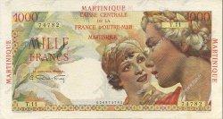 1000 Francs MARTINIQUE  1946 P.33 TTB+