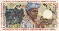 5000 Francs MARTINIQUE  1956 P.36s NEUF