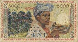 5000 Francs antillaise MARTINIQUE  1956 P.36a TB