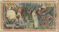 5000 Francs MARTINIQUE  1956 P.36a TB