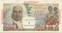 1 NF sur 100 Francs MARTINIQUE  1960 P.37 SPL