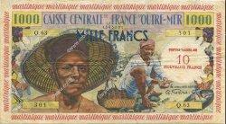 10 NF sur 1000 Francs MARTINIQUE  1960 P.39 TTB