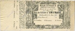 1 Franc MARTINIQUE  1859 P.A02r SUP