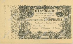 5 Francs MARTINIQUE  1863 P.A03r pr.NEUF