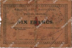 10 Francs MARTINIQUE  1895 P.05 B
