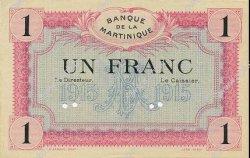 1 Franc MARTINIQUE  1915 P.10s pr.NEUF