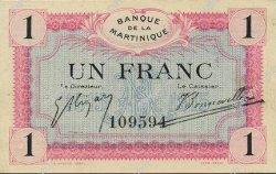 1 Franc MARTINIQUE  1915 P.10 SPL