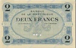 2 Francs MARTINIQUE  1915 P.11s SPL