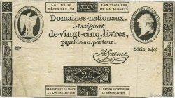 25 Livres FRANCE  1791 Laf.147 TTB