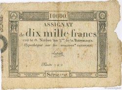 10000 Francs FRANCE  1795 Laf.177 TTB