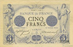 5 Francs NOIR FRANCE  1872 F.01.11 TTB+ à SUP