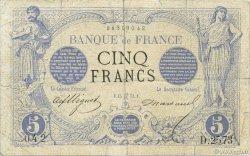 5 Francs NOIR FRANCE  1873 F.01.18 B