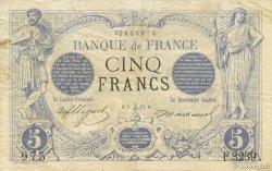 5 Francs NOIR FRANCE  1873 F.01.24 TB+