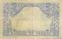 5 Francs BLEU FRANCE  1915 F.02.23 pr.TTB