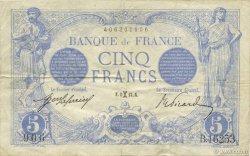 5 Francs BLEU FRANCE  1917 F.02.48b TTB