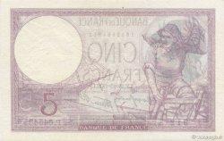 5 Francs VIOLET modifié FRANCE  1939 F.04.12 pr.SPL