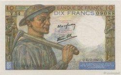 10 Francs MINEUR FRANCE  1943 F.08.08 NEUF