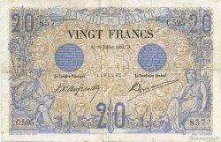 20 Francs NOIR FRANCE  1904 F.09.03 B