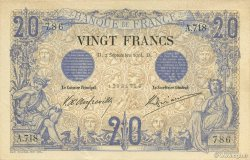 20 Francs NOIR FRANCE  1904 F.09.03 SUP+