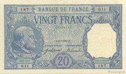 20 Francs BAYARD FRANCE  1916 F.11.01